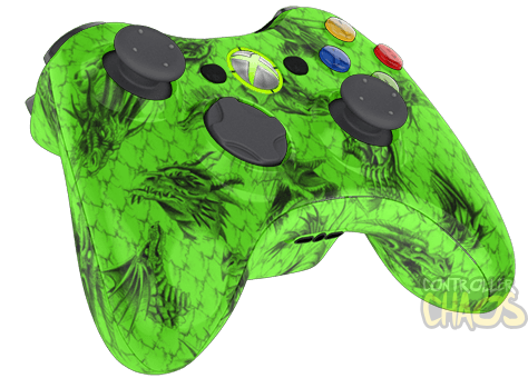 Green Dragon - XBOX 360 - Custom Modded Controller ...